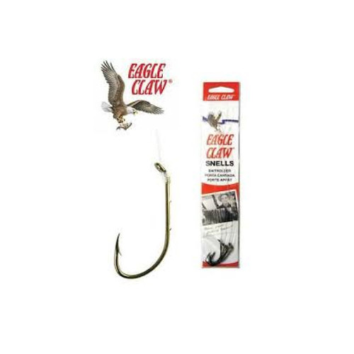 Eagle Claw Bronz Plain Shank Snell 6Pk