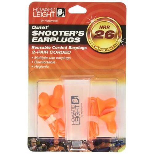 Howard Leight Quiet Corded Ear Plugs w Case 2 Pr