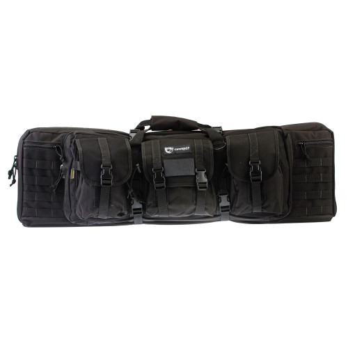 "Drago Gear 36"" Double Gun Case Blk"