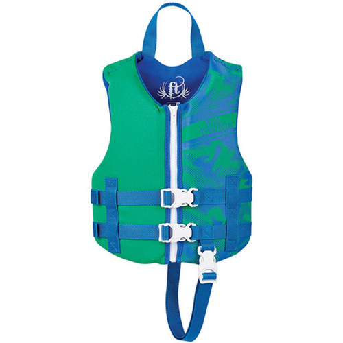 Full Throttle Child Life Jacket Rapid-Dry-Green