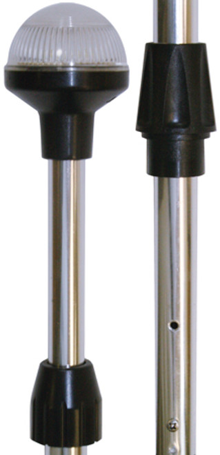 SeaSense Telescopic Led Stern  Light Chrome 26inTo48in
