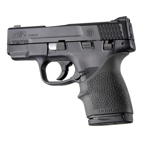 Hogue HandAll Bvrtail Grip Sleeve SW MP Shield 45 Kahr Black