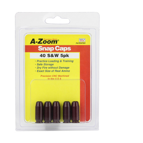 A-ZOOM 40 S and W Snap Cap 5PK