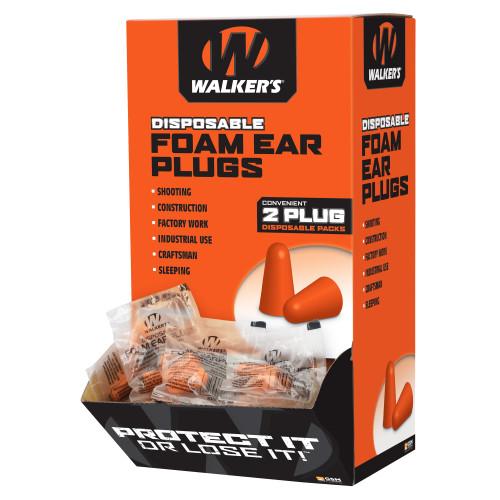 Walker's Foam Ear Plugs 200pk Box