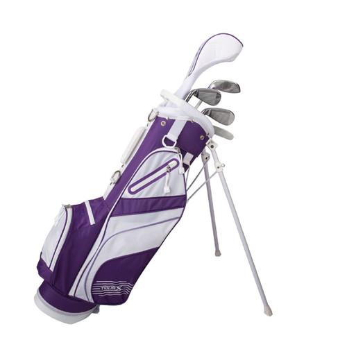 Tour X Size 3 Purple 5pc Jr Golf Set w Stand Bag