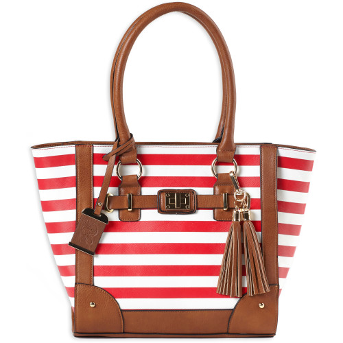 Bulldog Tote Purse Cherry