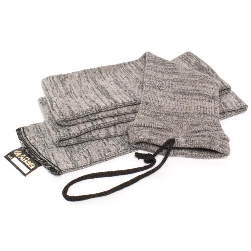 """Allen Knit Gun Sock 52"""" Gry 6pk"""