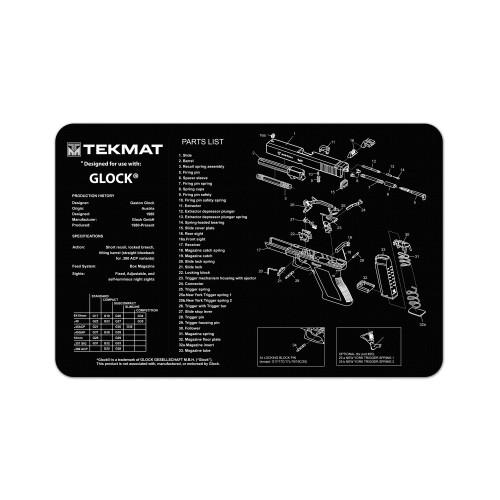 Tekmat Pistol Mat For Glock Blk - TEK17-GLOCK