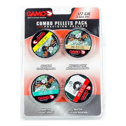 Gamo Combo Pack 1000 Assorted .177 Cal Hunting Pellets