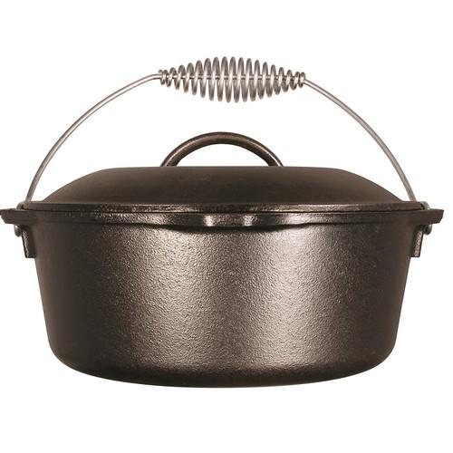 Lodge 10in Cast Iron Dutch Oven Pre-Seasoned 5-Quart