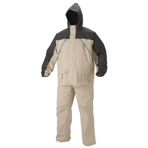 Coleman Apparel Suit PVC Nylon Tan Size Extra Large