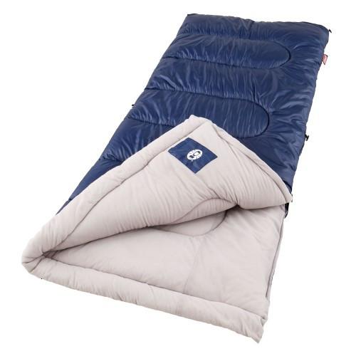 Coleman Sunridge 75x33 Inch Rectangle Sleeping Bag Blue