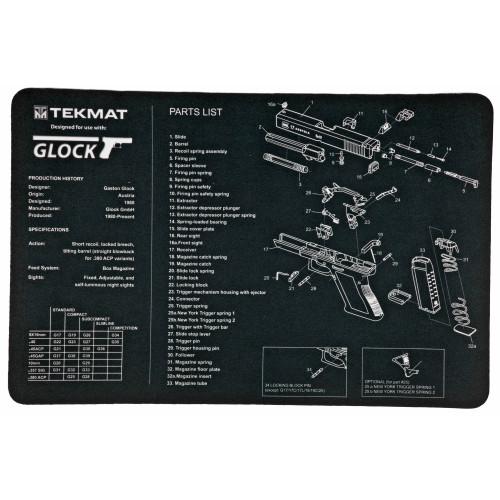Tekmat Pistol Mat For Glock Blk - TEKR17-GLOCKE