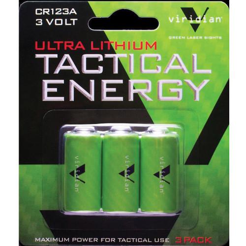 Viridian Cr123a Lith Battery 3pk - LAS350-0006