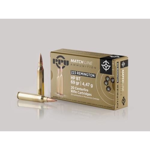PPU .223 Remington Match HPBT 69gr 20 Rounds