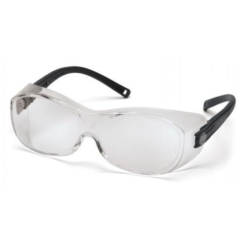 Pyramex OTS Safety Glasses Black Frame Clear Lens