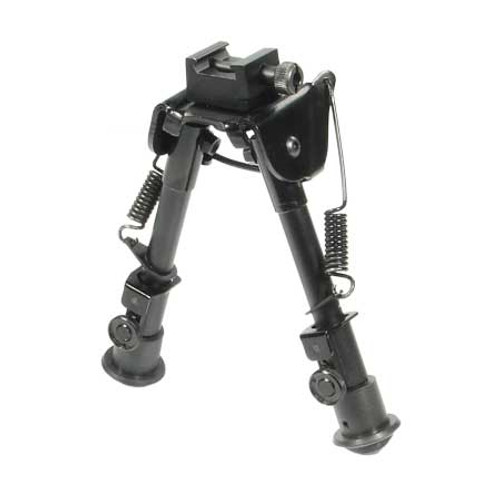 Leapers UTG Tactical OP Bipod Rubber Feet 6.1-7.9in Cntr Ht