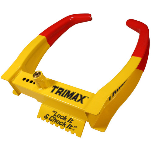 Trimax TCL75 Deluxe Universal Wheel Chock Lock-Yellow Red