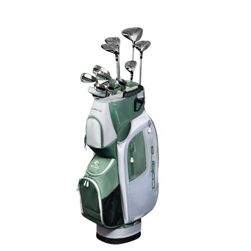 Cobra FLY-XL Womens Golf Set-Black Olive-RH-Cart Bag