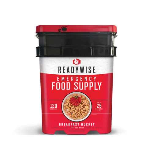 ReadyWise 120 Serving Breakfast Only Grab and Go Bucket