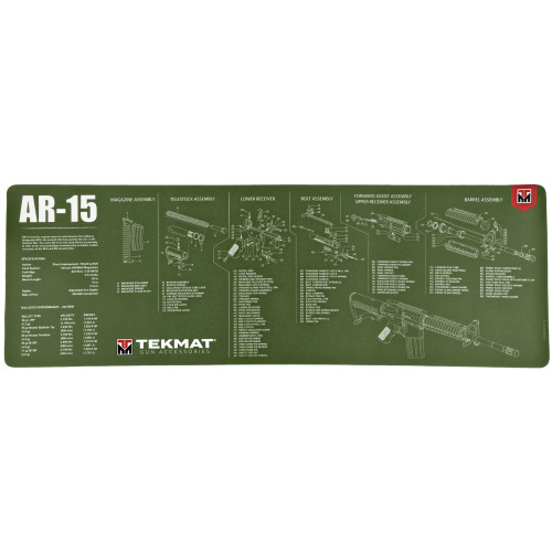 Tekmat Rifle Mat Ar15 Od Green