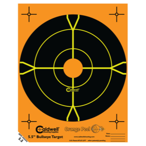 Caldwell Orange Peel 5.5 inch Bulls Eye 10 sheets