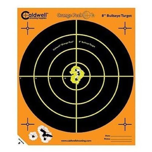 Caldwell Orange Peel 8 inch Bulls Eye 5 Sheets