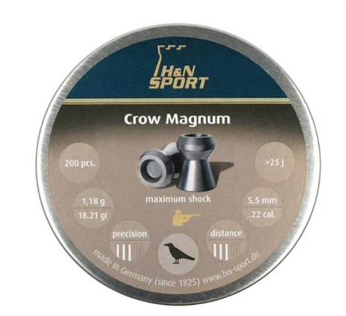 H and N Crow Magnum Hollowpoint Airgun Pellets .22 cal.