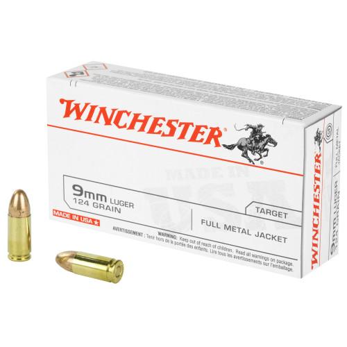 Win Usa 9mm 124gr Fmj 50/500