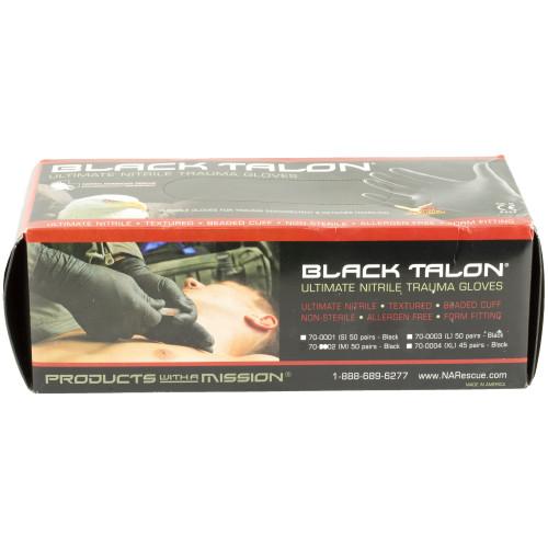 Nar Gloves Black Nitrile 50 Pair
