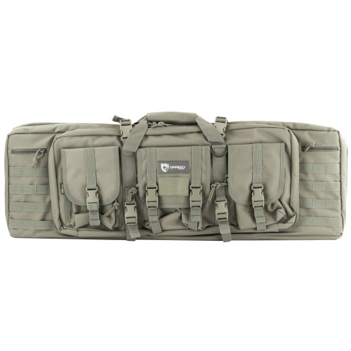 "Drago Gear 36"" Double Gun Case Gry"