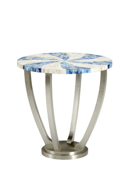 Blue Swirl Side Table