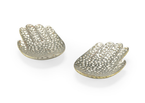 Small Silver Hands (pair)