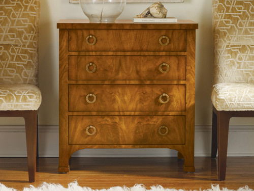 Walnut Biedermeier 4-Drawer Chest