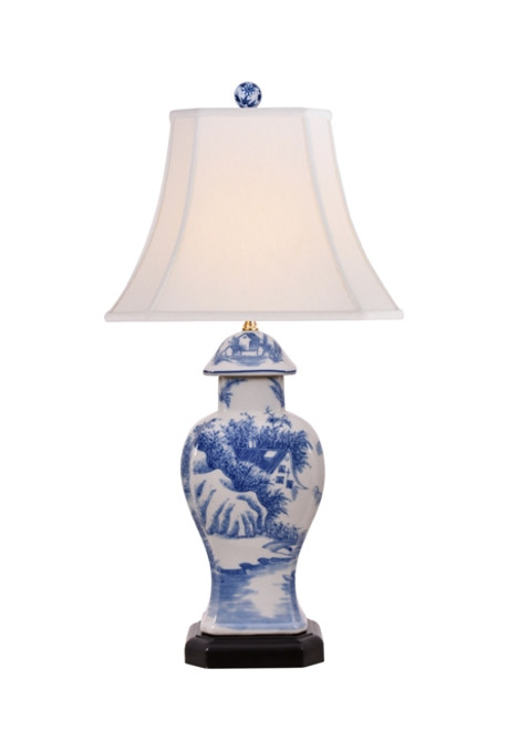 Blue and White Candy Jar Lamp