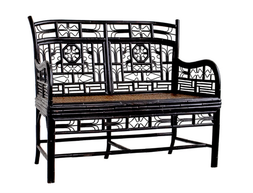 Indochine Double Settee Cushion Available Finish: Refer to finish chart for color options