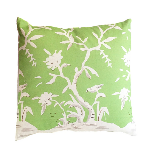 """Cliveden in Green 22"""" Pillow"""