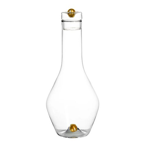 Golden Globe Decanter with Gold Ball