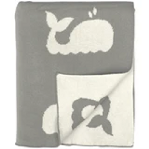 Whale Design Knitted baby Blanket