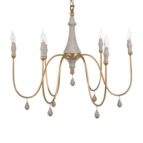 Small Clay Chandelier - Gold