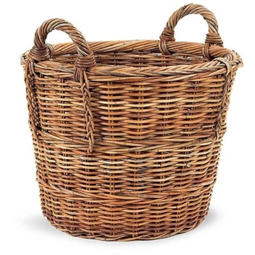 French Country Log Basket - Deguise Interiors Charleston SC