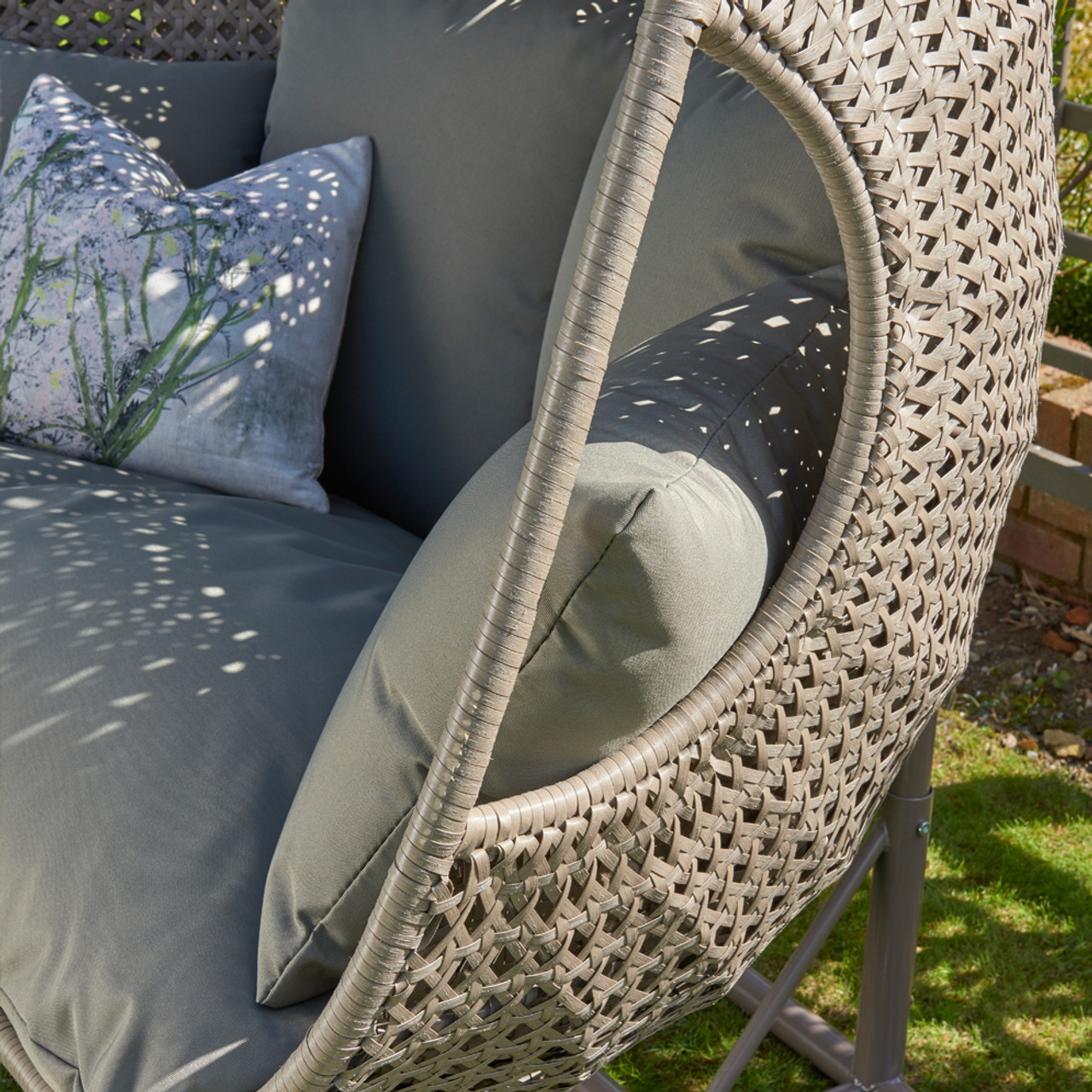 Goldcoast Double Hanging Chair Swing Grey Norfolk Leisure Qubox