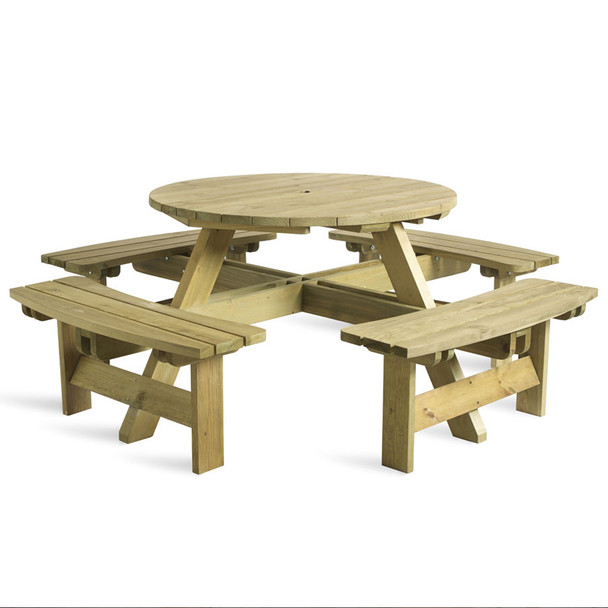 King 8 Seater Round Picnic Table Qubox