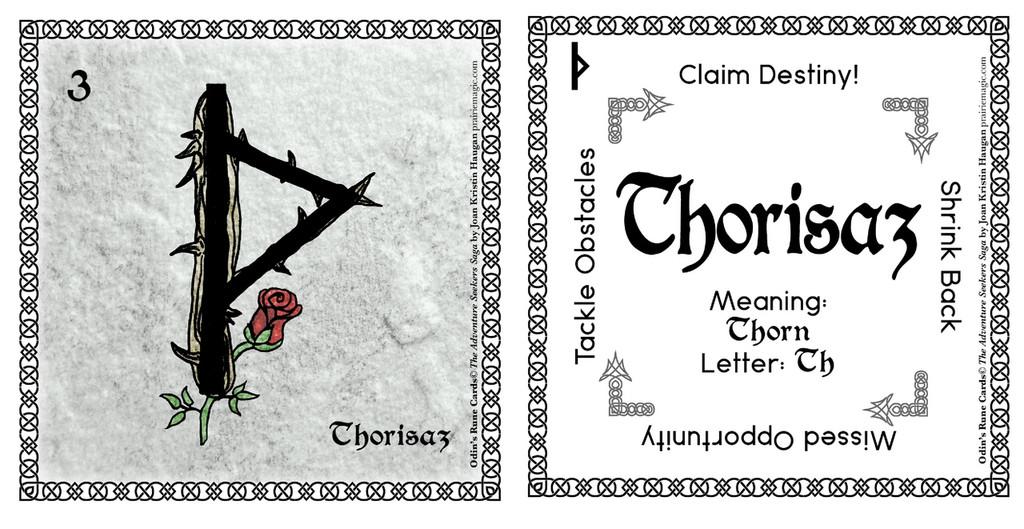 Thorisaz Rune Stone Card of the Elder FUThARK Odin's Runes™