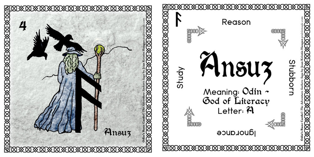 Ansuz Rune Stone Card of the Elder FUThARK Odin's Runes™
