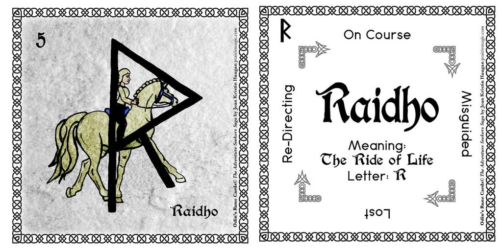 Raidho Rune Stone Card of the Elder FUThARK Odin's Runes™