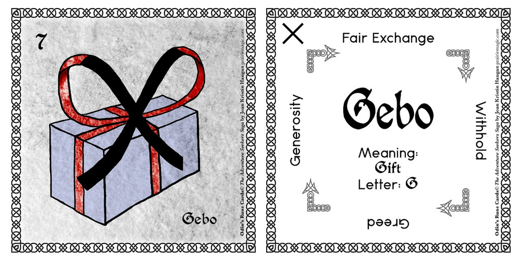 Gebo Rune Stone Card of the Elder FUThARK Odin's Runes™
