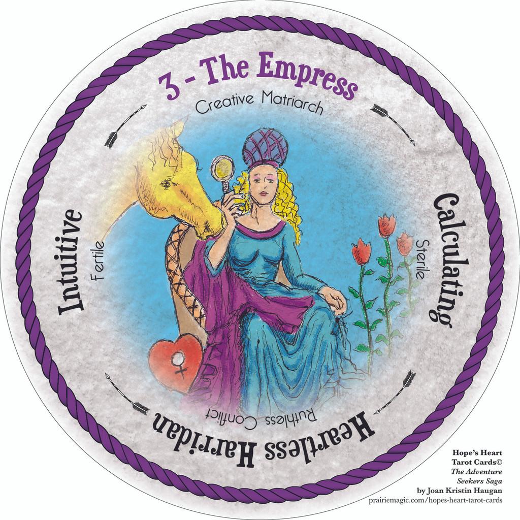 3 The Empress - the round Hope's Heart Tarot™ deck