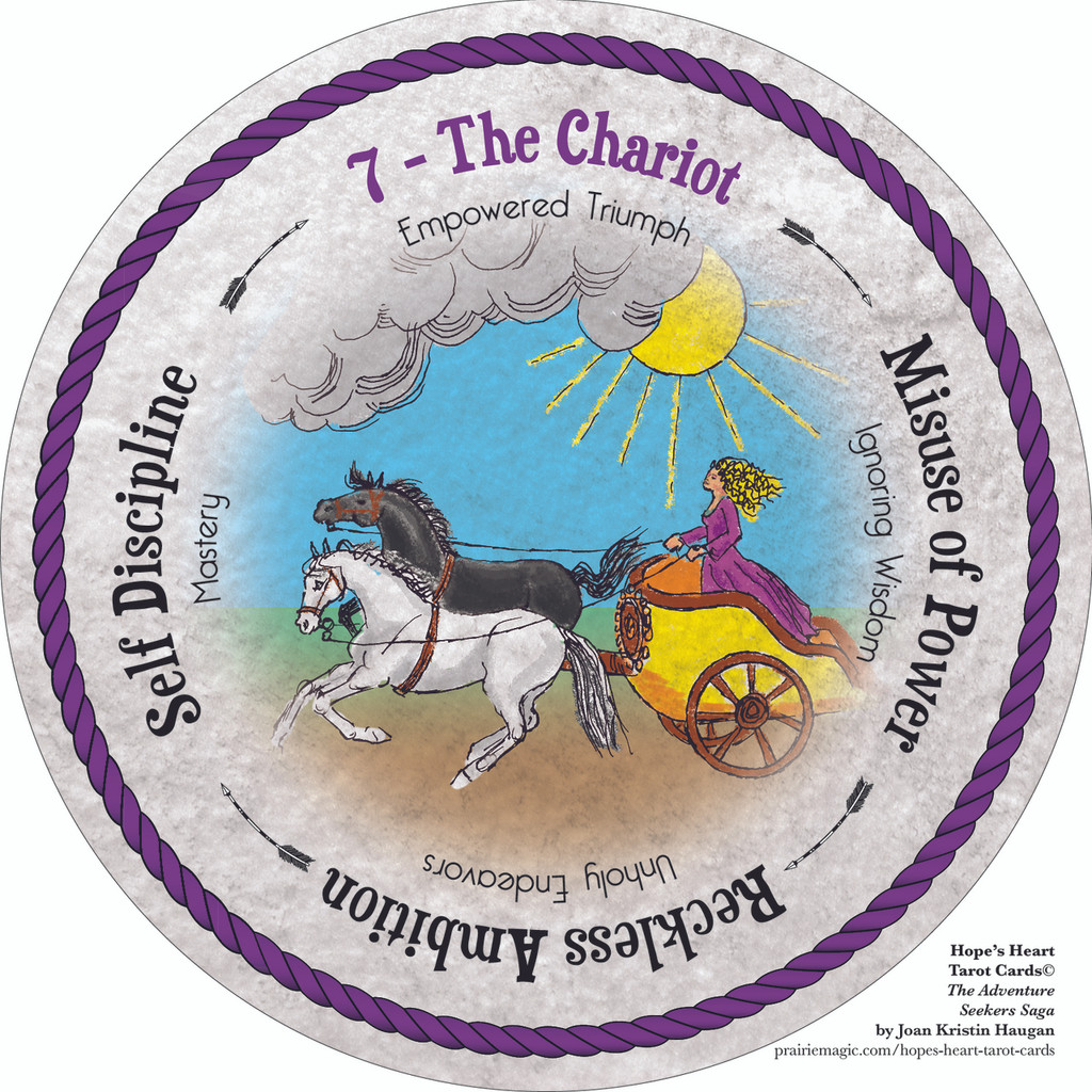 7 The Chariot - the round Hope's Heart Tarot™ deck