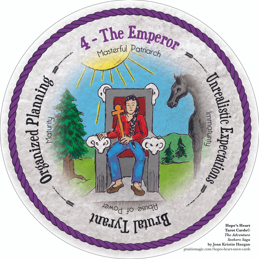 4 The Emperor - the round Hope's Heart Tarot™ deck
